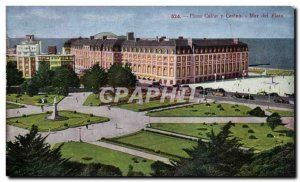 Postcard Old Casino Plaza Colon y Mar del Plata, Argentina
