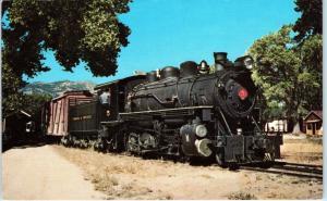 CARSON CITY, NV Nevada  VIRGINIA & TRUCKEE #5 Railroad Display  c1960s Postcard