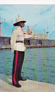 Jamaica Kingston Constable In Dress Uniform Policeman