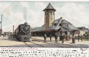 LEBANON, Pennsylvania, PU-1907; Philadelphia & Reading Depot, Glitter Detail