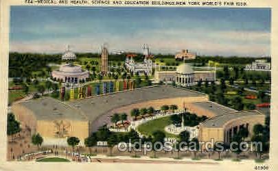 New York Worlds Fair 1939 exhibition postcard Post Card  Education Bld.