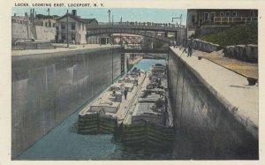 LOCKPORT , New York , 1900-10s ; Locks, Looking East