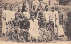 Republic of Congo Francais, Village, Cour, Brazzaville, Native Group Photo