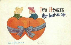 Artist Impression c-1910 Valentine Two Hearts as one  Postcard 20-2042