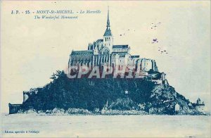Old Postcard Mont St Michel General view