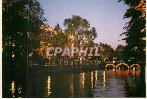 Postcard Modern Amsterdam Keizersgracht