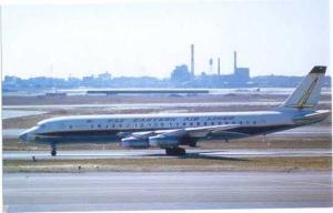 Eastern Airlines Douglas DC8-21, Chrome by Aviationcards.com #47
