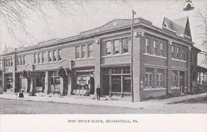 Pennsylvania Sellersville Post Office Block Berkemeyer