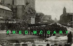 1909 DC PC Inauguration Parade Soldiers Pass Willard Hotel