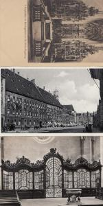 Augsburg Fuggerhaus RPC St Ulrich 3x German Religious Postcard s