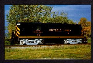 ON ONTARIO Lines Midland Railroad Train Engine Postcard