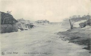 Belgian Congo - Chute du Lumbula dans le Louloua