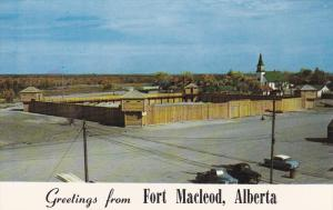 Alberta's Oldest Settlement, FORT MACLEOD, Alberta, Canada, 40-60's