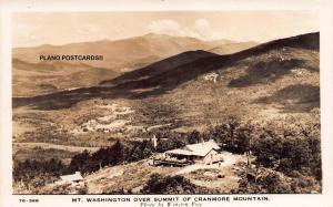NEW HAMPSHIRE  SUMMIT OF CRANMORE MOUNTAIN RPPC REAL PHOTO POSTCARD