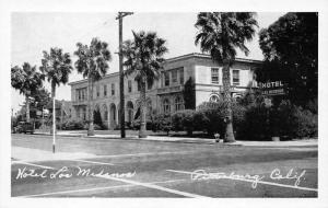 Pittsburg Californina~Hotel Los Medanos~Sign @ Street Corner~Parked Car~1940s Pc