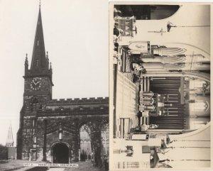 Wednesbury Church Clock Staffs 2x RPC Photo & Postcard s