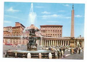 Italy Roma Vatican St Peters Square Fountain Apostolic Palac