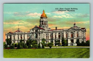 Cheyenne WY- Wyoming, State Capital Building, Government Offices,Chrome Postcard
