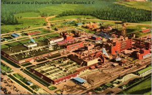 ,AERIAL VIEW OF DUPONT'S ORLON PLANT, CAMDEN SOUTH  CAROLINA,1940;S