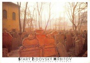 Postcard, Old Jewish Cemetery of Prague, Praha, Czech Republic 22Z