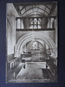 Surrey COMPTON CHURCH showing Gallery Old Postcard by Alfred Challen of Compton