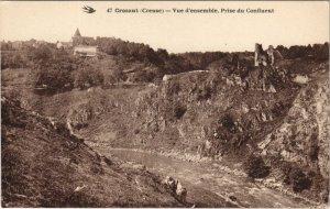 CPA CROZANT - Vue d'ensemble Prise du Confluent (121790)