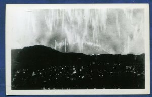 Prince Rupert BC Canada Northern Lights Real Photo Postcard RPPC