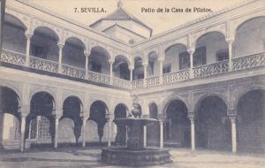 SEVILLA, Andalucia, Spain; Patio de la Casa de Pilatos, Fountain, 00-10s