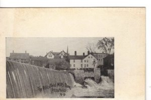 Undivided Back Postcard UDBP Pittsfield Mills Dam New Hampshire Very Old
