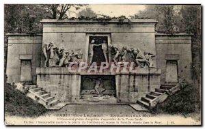 Old Postcard Paris Monument Aux Morts L & # 39Humanite Full of & # 39angoisse...
