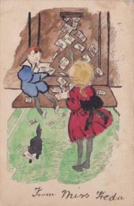 Tucks Children Reading Letters 1903