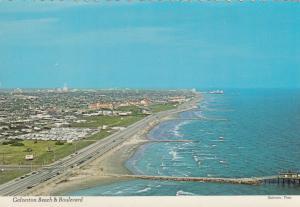 GALVESTON , Texas , 1970s ; Galveston Beach & Boulevard