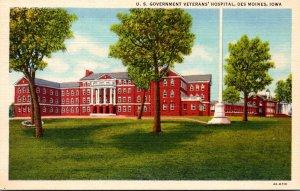 Iowa Des Moines U S Government Veterans' Hospital  Curteich