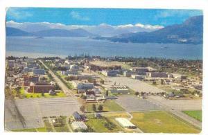 Aerial view of University of British Columbia, Canada, 40-60s