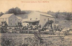 Brave Pennsylvania Thirty Horseteam Hauling Gas Antique Postcard K106149