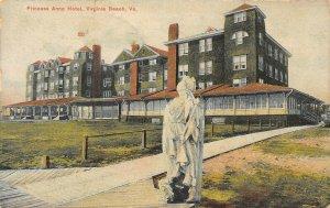 LP79 Virginia Beach  Virginia Postcard Princess Anne Hotel