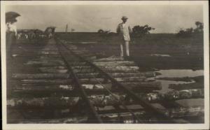 Panama Canal Zone c1910 Amateur Real Photo Postcard #8 RR Train Tracks