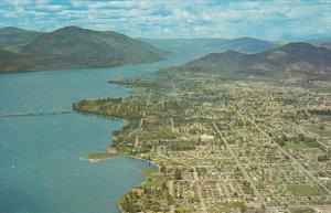 Canada British Columbia Kelowna Aerial View Canada's Apple Capital