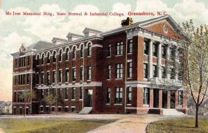 Greensboro North Carolina State Normal-Industrial College antique pc Z26362