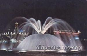 Lunar fountain New York, USA 1964 - 1965, Worlds Fair, Exposition, Postcard P...