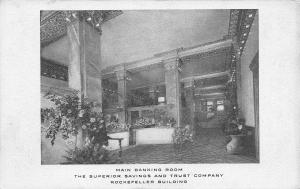 Cleveland Ohio~Superior Savings & Trust Co~Main Banking Room~Plain Dealer 1905