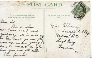 Genealogy Postcard - Whinney - Station Road - Highbury - London - Ref 5256A