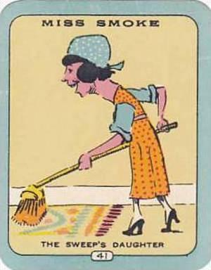 Carreras Vintage Cigarette Card N0 41 Miss Smoke The Sweeps Daughter