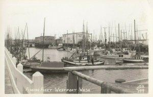RP: WESTPORT , Washington , 1930-40s ; Fishing Fleet , ELLIS 799