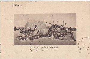 Tunisia Gourbi de nomades 1918