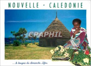 Old Postcard New Caledonia bougna Sunday lifou