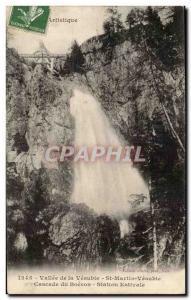 Valley of the Vesubie Old Postcard Saint Martin Vesubie Cascade Station Boér...