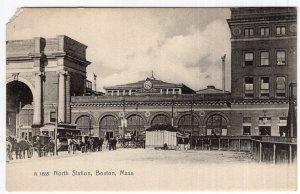 Boston, Mass, North Station - Rotograph