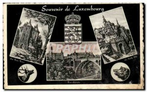 Old Postcard Souvenir From Luxembourg