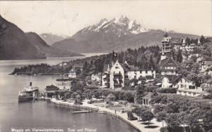 Switzerland Weggis am Vierwaldstaettersee Quai und Pilatus Photo
